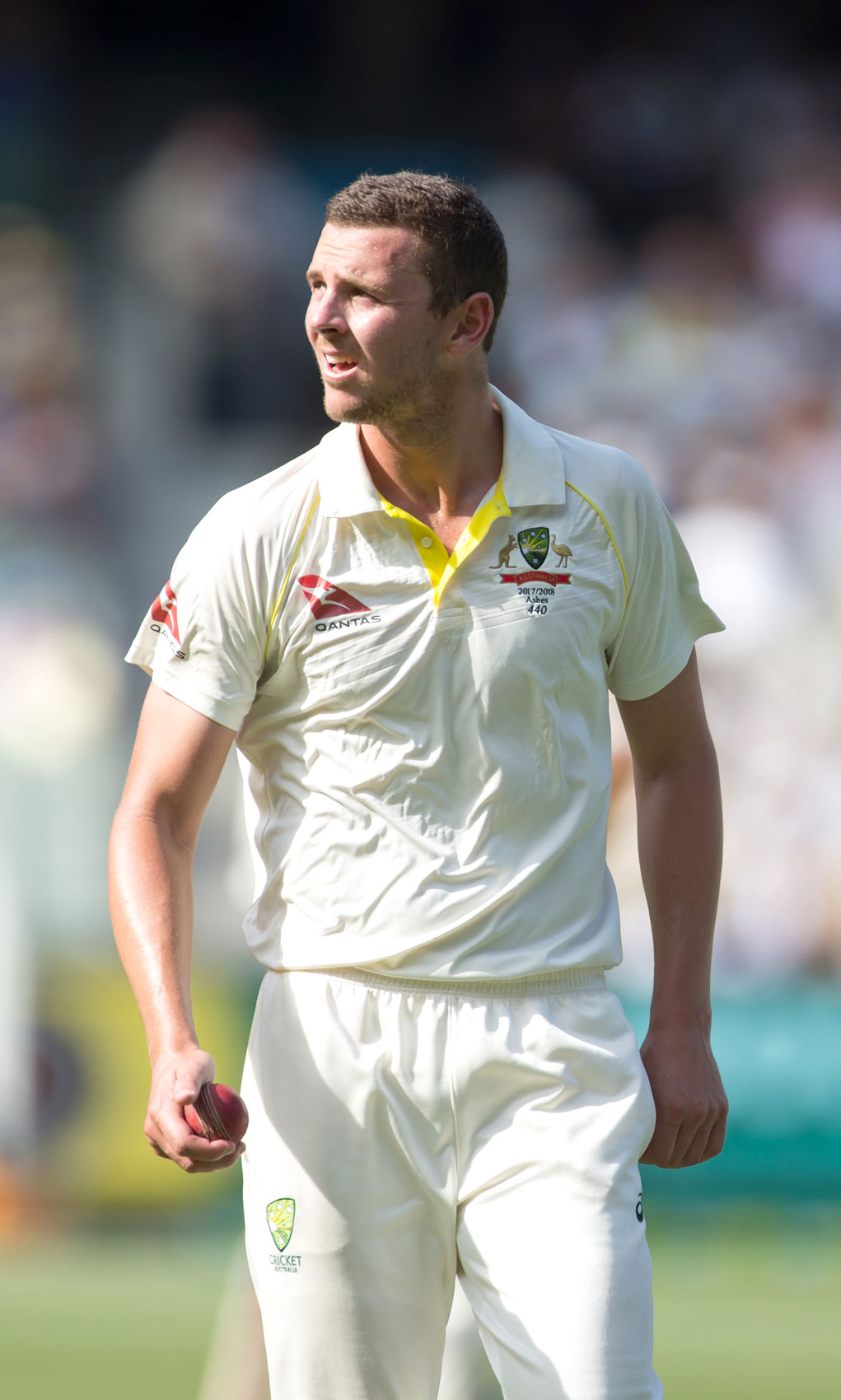 Josh Hazelwood in action at the MCG during the 2017 Boxing Day Test