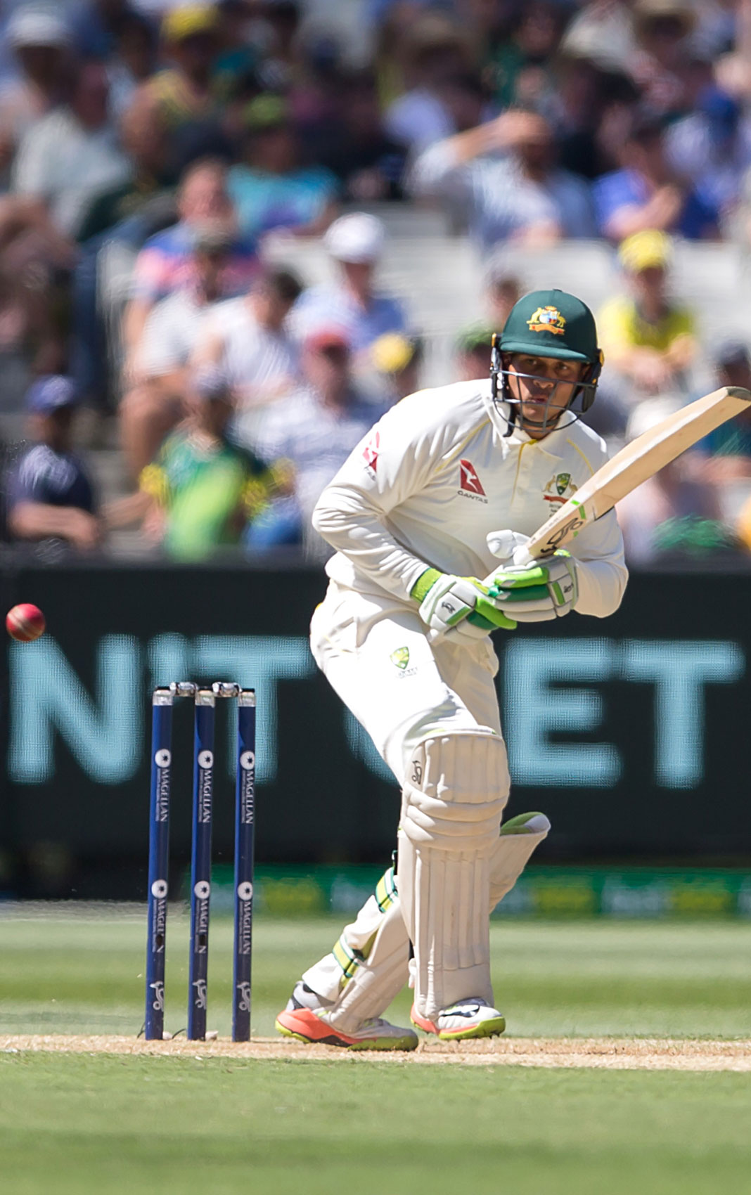 Usman Khawaja in action at the MCG during the 2017 Boxing Day Test